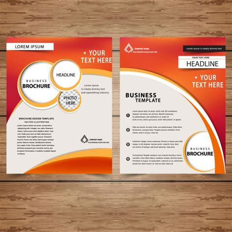 business brochure templates free professional business brochure templates vector free