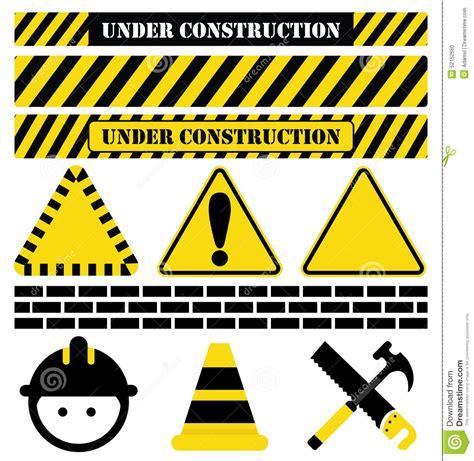 Construction Plan Symbols under construction stock vector image 52152660
