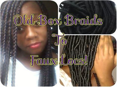 old box braids 8 how to old box braids to faux locs youtube