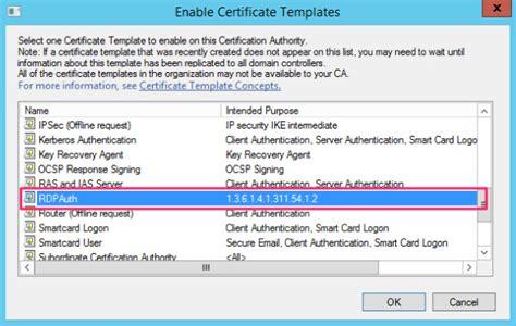 windows certificate templates rdp tls certificate deployment using gpo