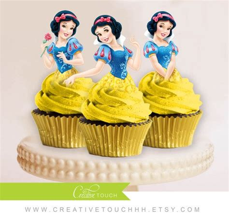 Topper Cake Topper Cupcake Disney Princess snow white cupcake toppers princess snow white disney