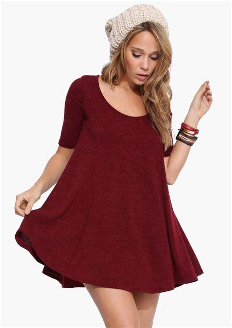 cute swing dresses wonderful dress oversized swing dress in burgundy