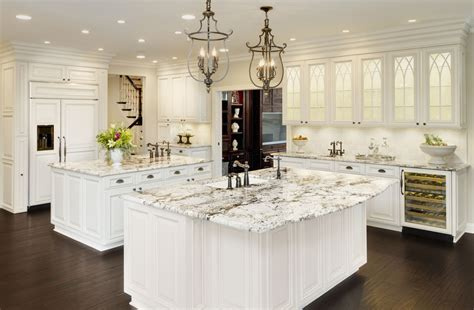 White Kitchen Cabinets With Granite 10 Granite Top Kitchen Table Ideas