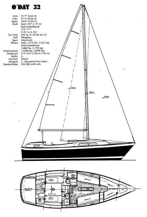 yacht rigging layout o day 32 center cockpit for sale by jan guthrie yacht