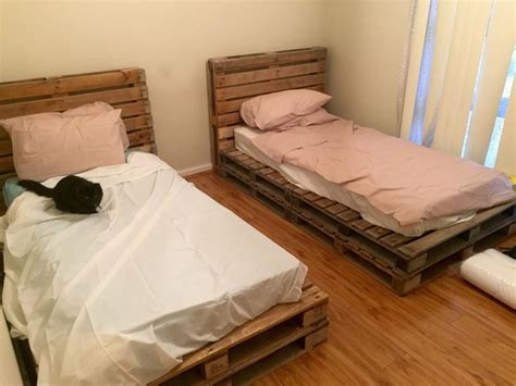 bed with pallets best 25 wooden pallet beds ideas on pinterest pallet