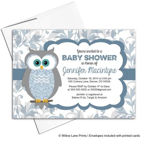 printable owl boy baby shower invitations printable baby shower invitations for a boy owl baby shower