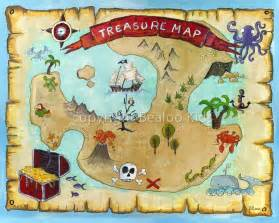 pirate art 8x10 pirate treasure map print