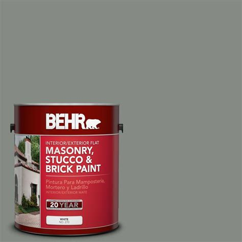 behr premium 1 gal ms 69 army green elastomeric masonry stucco and brick paint 06701 the