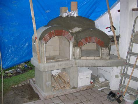 steinbackofen selber bauen bau einer grill steinbackofen kombination grillforum