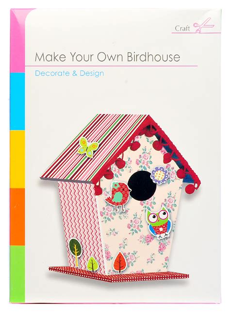 make your own cards kit build make your own bird house craft children card paper