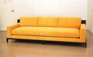 custom sofa with wood framed back custom