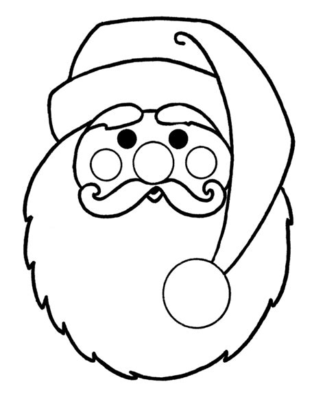 santa template coloring pages