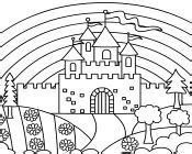 rainbow castle coloring page castle coloring pages girls coloring pages