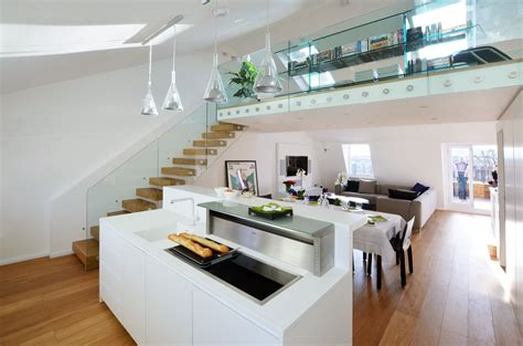 Sleek Kitchen Designs by Contemporary Maisonette Apartment In A Grade Ii Listed