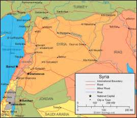 Syria On Map by Map Of Syria Free Printable Maps
