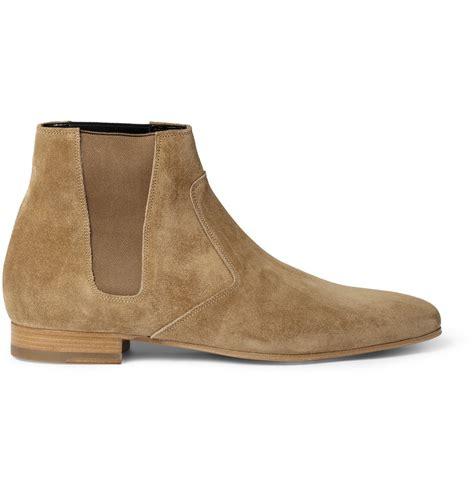 laurent mens chelsea boots laurent suede chelsea boots in for lyst