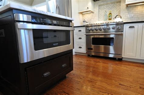 Kitchen Island Microwave X Base Kitchen Island Traditional Kitchen West End Cabinet Company