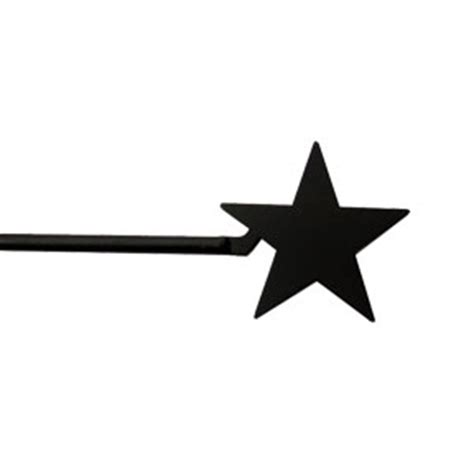 star curtain rods wrought iron star curtain rod