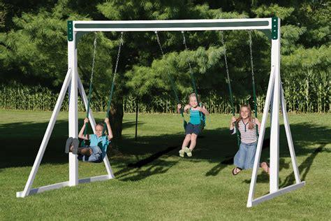 free standing tire swing free standing swing beam swing kingdom