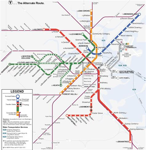 umass cus map boston subway t map boston ma mappery