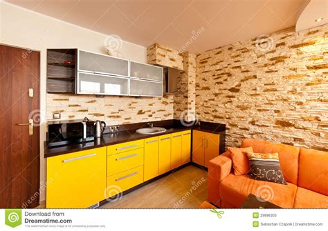 orange and yellow kitchen orange room kitchen stock photos image 29896303