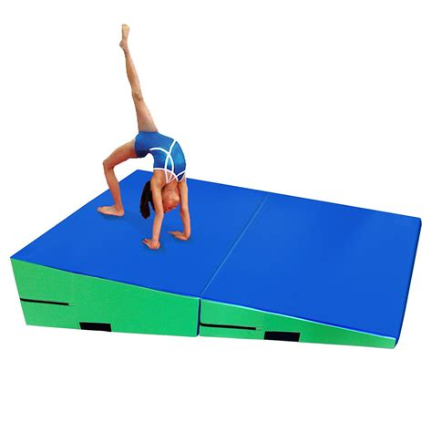 Gymnastics Incline Mats For Sale by Gymmatsdirect Folding Gymnastics Incline Mat Large Cheese