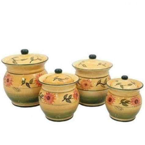 sunflower kitchen canisters ebay