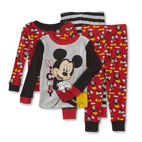 Pajamas All Mickey disney baby mickey mouse toddler boy s 2 pairs sleeve