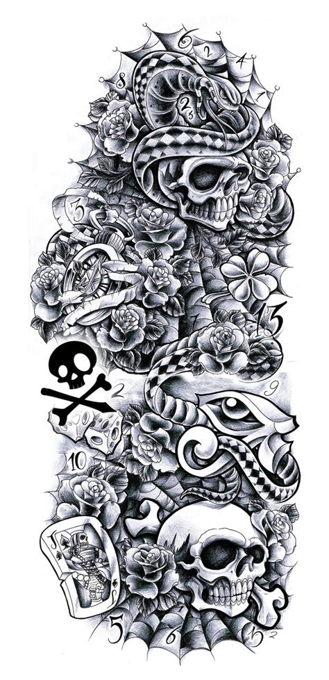 tattoo arm drawings commission sleeve andrea by willemxsm on deviantart