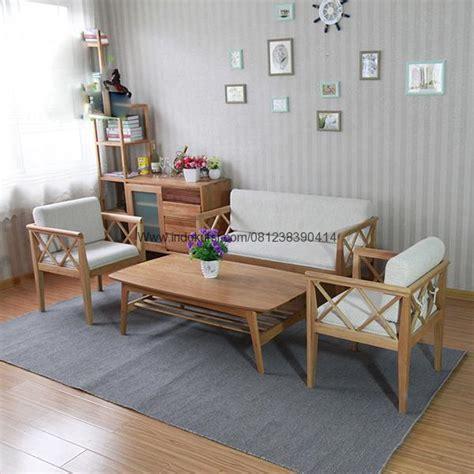 Kursi Tamu Kayu Busa jual furniture kursi tamu minimalis silang kayu jati jok