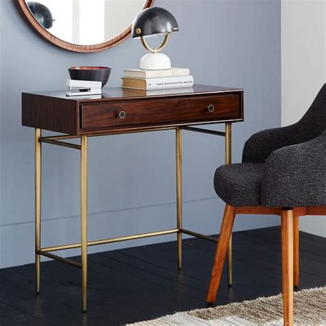 West Elm Small Desk Heston Mid Century Mini Desk West Elm