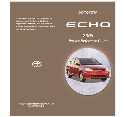 where to buy car manuals 2005 toyota echo user handbook 2005 toyota echo reference owners guide