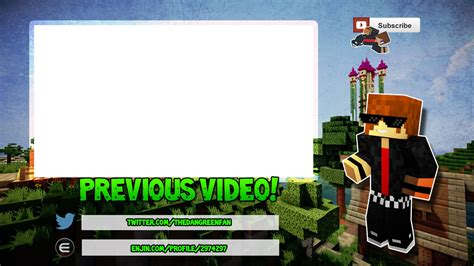 minecraft outro template maker 28 images free outro