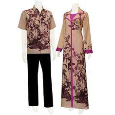 Busana Gamis Muslimah Batik Tenun Rang Rang Biru Muda cool batik sarimbit the purple batik