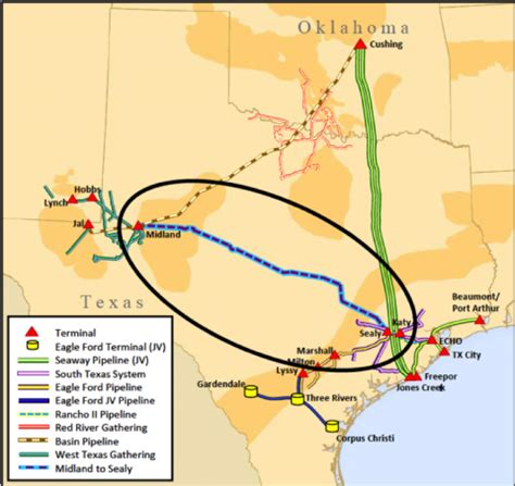 houston gas map the defections is new permian crude pipeline