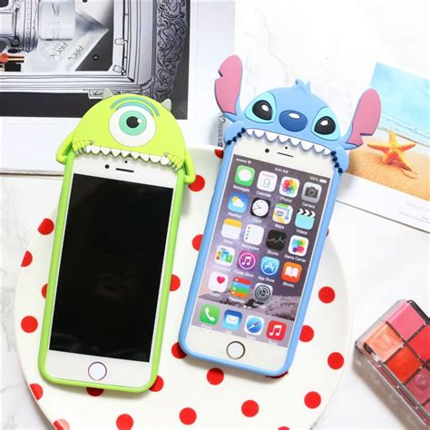 Jelly Soft Shell Doraemon Sinchan Stitch Iphone 5 6 details about 3d stitch mike soft rubber silicone cover for iphone 6 6s plus inspiration