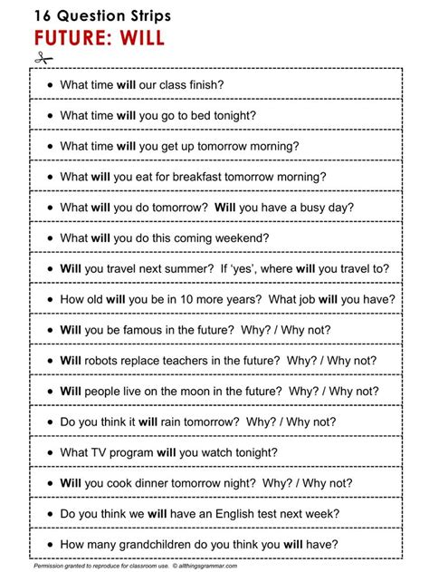 question of future tense 817 best english grammar esl efl images on pinterest