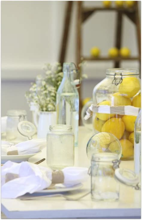 large mason jar table l 138 best images about decorating with lemons on pinterest