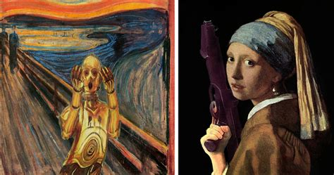 Best Reading Chair Ever 20 famous paintings reimagined with star wars elements