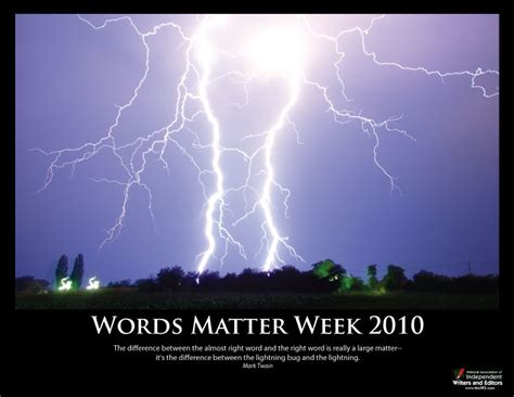between the lightning bug and the lightning a writers words matter week poster collection words matter week