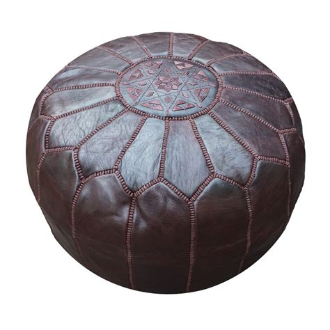 moroccan leather pouf ottoman chocolate brown moroccan leather pouf pouffe ottoman