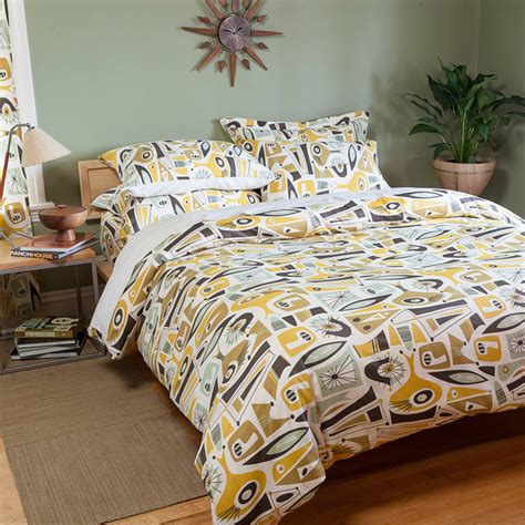mid century bedding atomic dreams collection midcentury bedding seattle