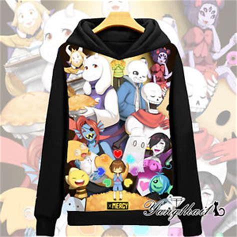Sweater Undertale Hitam Zem Clothing unisex pullover casual sweater undertale sans papyrus hoodie jacket coat 3 ebay