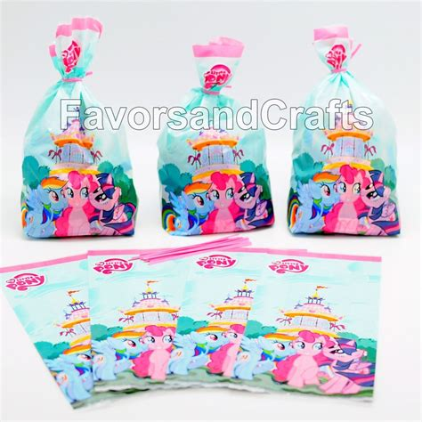 pony parties make a great birthday treat for kids my little pony treat bags favors cellophane dash birthday