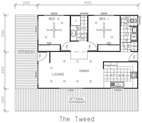 two bedroom house plans with porch semi detached floor plan trend home design and decor