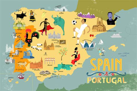 a company in portugal called friday have designed mapped spain portugal
