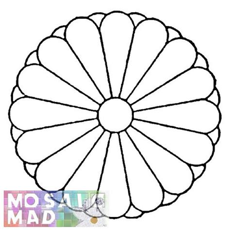 mosaic templates free mosaic patterns printable flower chrysanthemum 1