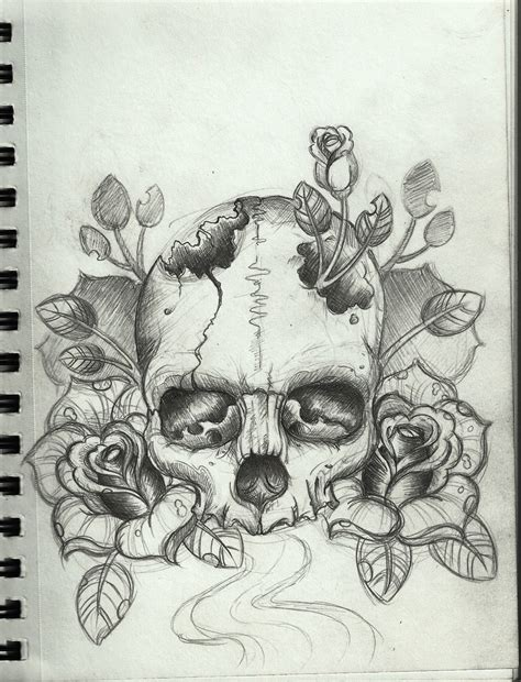 skull tattoo drawings skull design by frosttattoo on deviantart