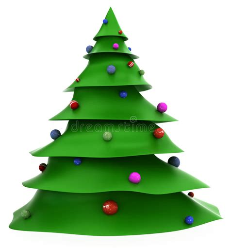 cartoon christmas tree december 3d tree stock illustration image of 22279436