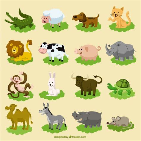 imagenes de animales gratis conjunto de animales divertidos dibujos animados
